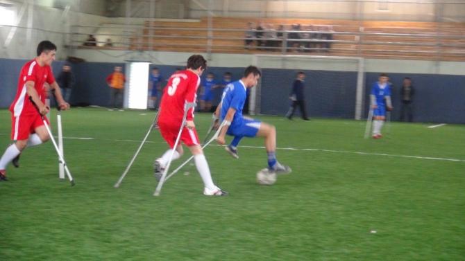 Engellilerle Empati İçin Koltuk Değnekli Maç 12