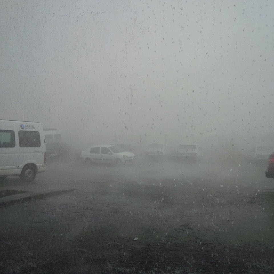 Kars'ta Şiddetli Rüzgar ve Dolu 2
