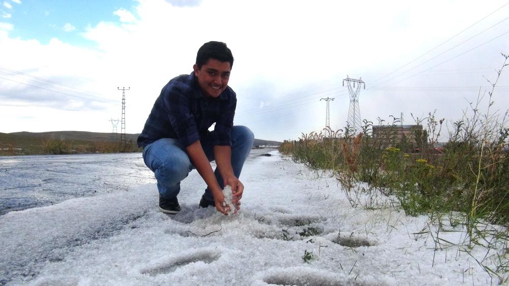 Kars'ta Şiddetli Rüzgar ve Dolu 4