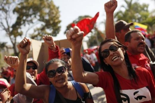 Hugo Chavez'e Muhteşem Uğurlama 10