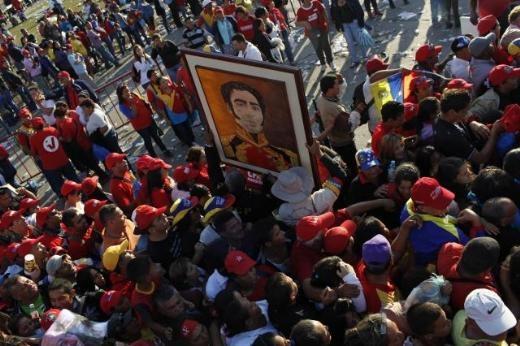 Hugo Chavez'e Muhteşem Uğurlama 12