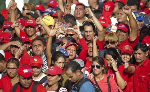 Hugo Chavez'e Muhteşem Uğurlama 6