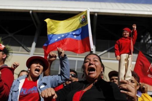 Hugo Chavez'e Muhteşem Uğurlama 9