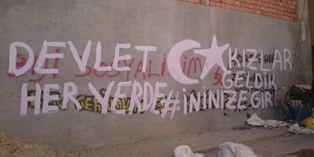 Silvan'da Özel Tim Duvarlara Yazılama Yaptı! 6