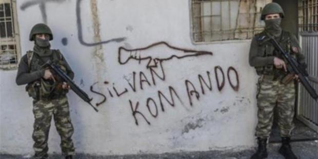 Silvan'da Özel Tim Duvarlara Yazılama Yaptı! 8
