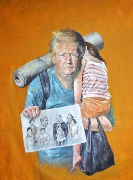 Liderleri 'Mülteci' Olarak Çizdi 13