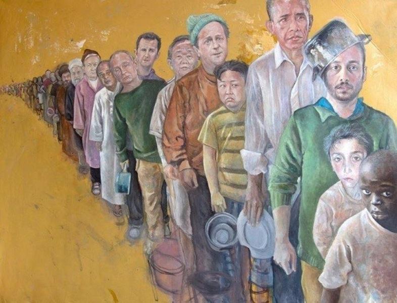 Liderleri 'Mülteci' Olarak Çizdi 2