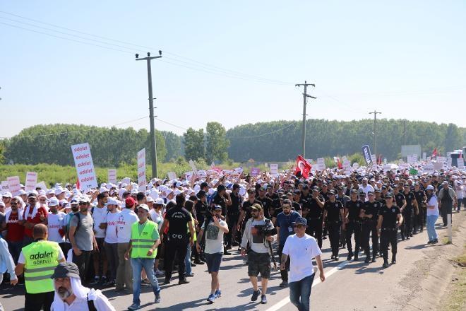'Adalet Yürüyüşü'nden Kareler 30