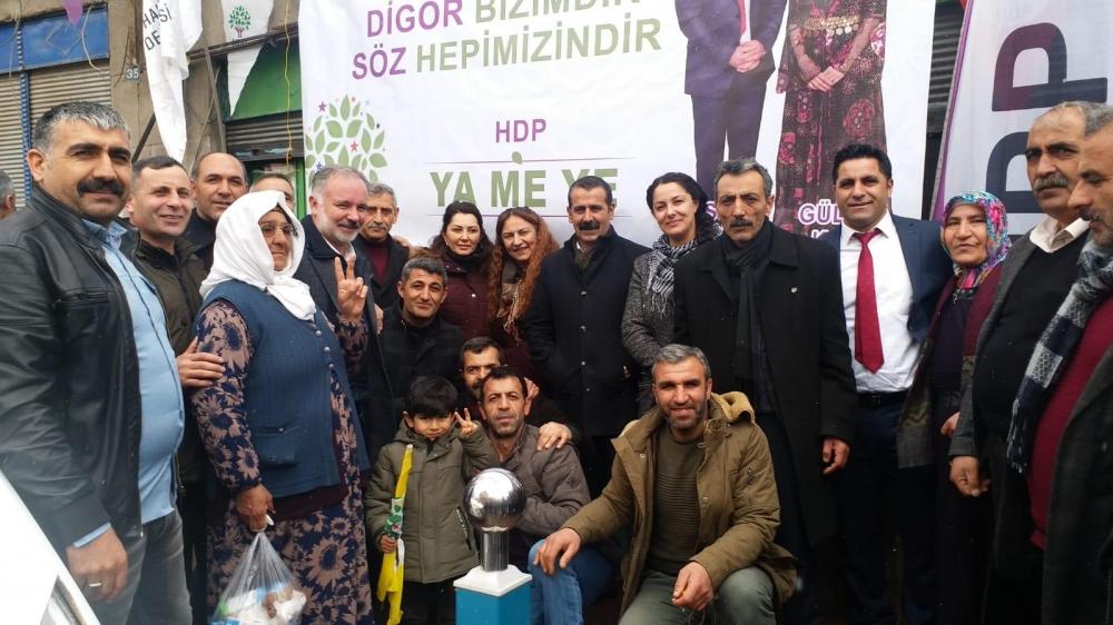 HDP'nin Digor Seçim Bürosu Açıldı 1