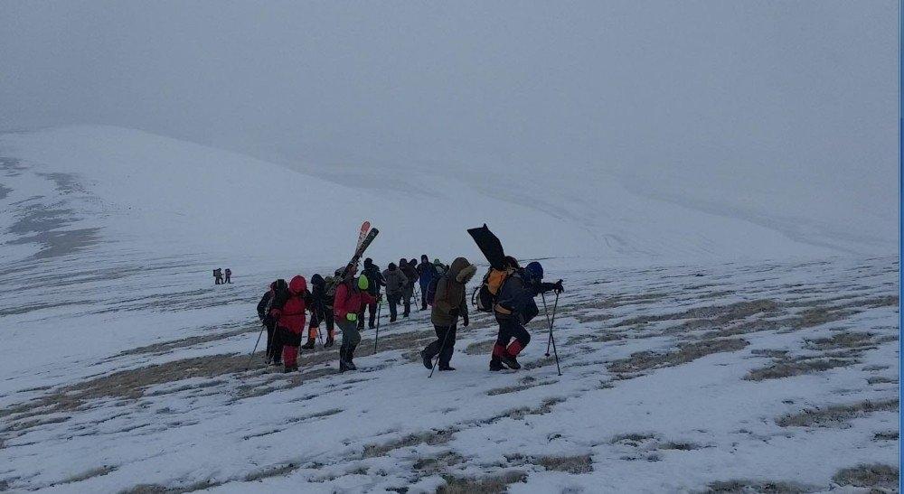 Karslı Dağcıların 'Gökçe Dağ' Yürüyüşü 5