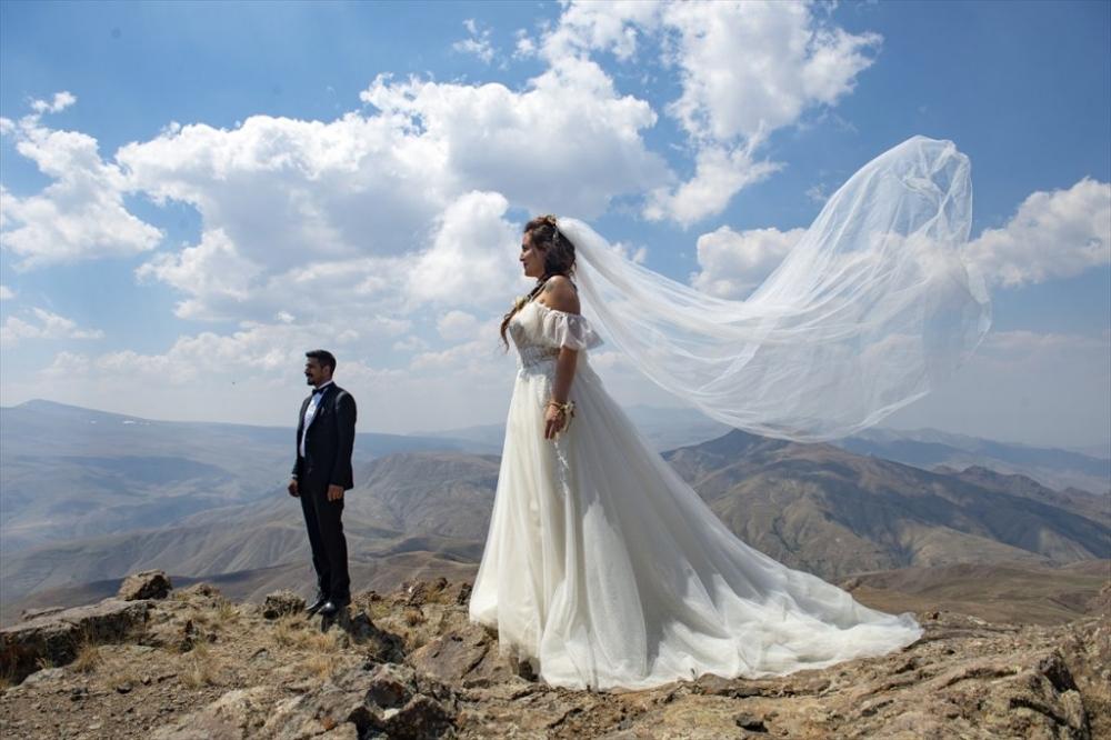 Dağcı Çift 'Zirve'de Nikah Kıydı 13