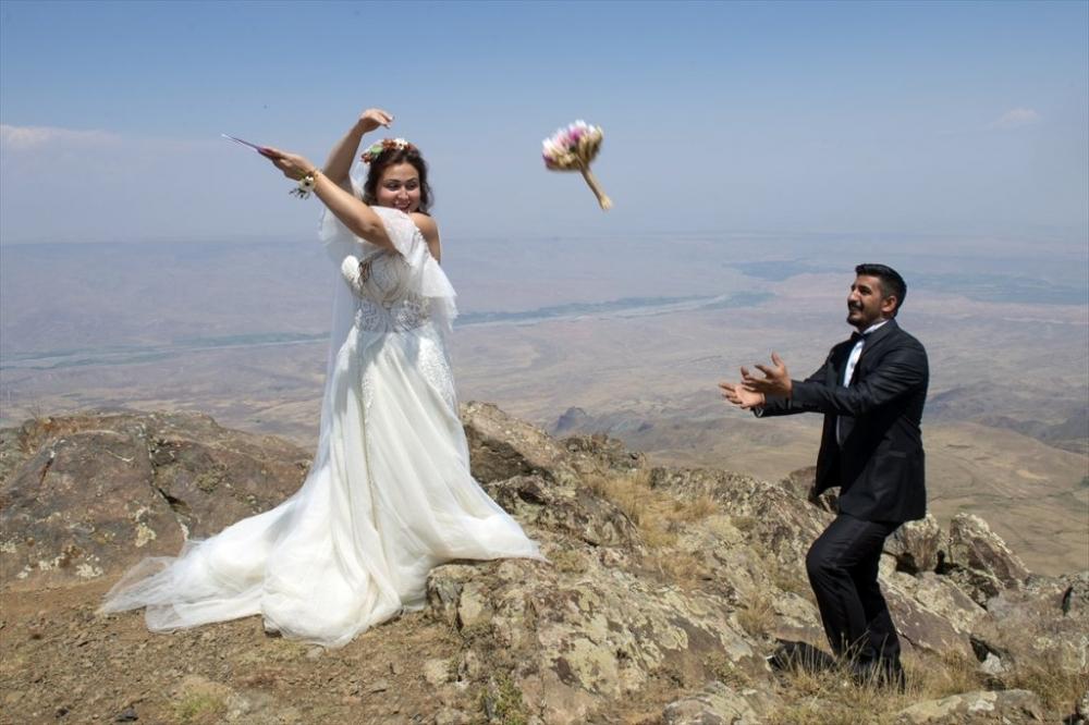 Dağcı Çift 'Zirve'de Nikah Kıydı 15