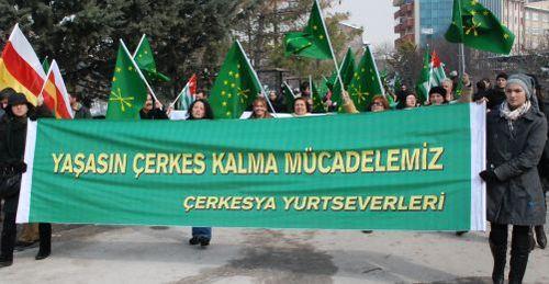 Çerkesler Hakları İçin Ankarada YÜRÜDÜ