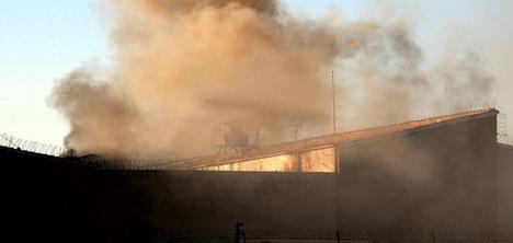 Cezaevinde Yine Yangın: 14 YARALI