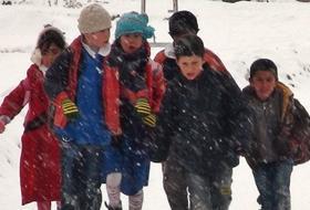 Kar Yağışı Altında Marş OKUDULAR!