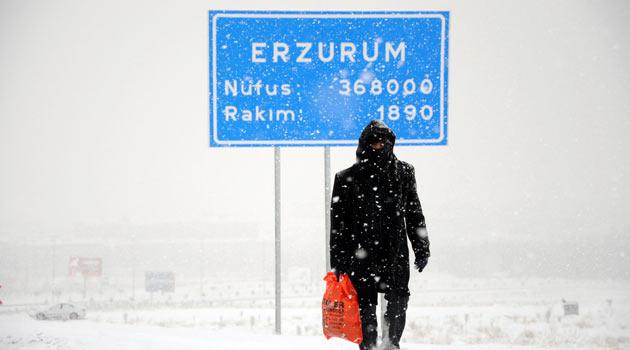Erzurumda Sıcaklık eksi 35leri GÖRDÜ