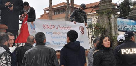 HDKnin Sinop Ziyaretinde GERGİNLİK