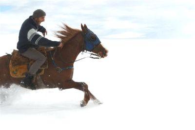 Karsta Kar Üstünde Cirit GÖSTERİSİ