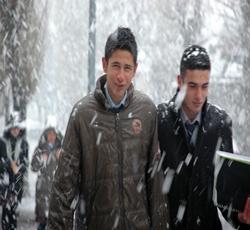 Bölgede ve Karsta Kar Yağışı BAŞLADI