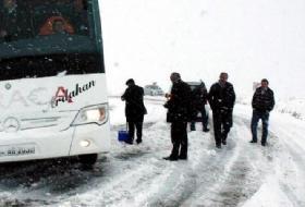 Ardahanda Kar Yağışı Yolları KAPATTI