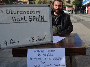 Trabzon'da Oturma Eylemi