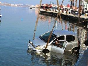 Denize Uçan Kadın Sürücü Sağ Kurtuldu