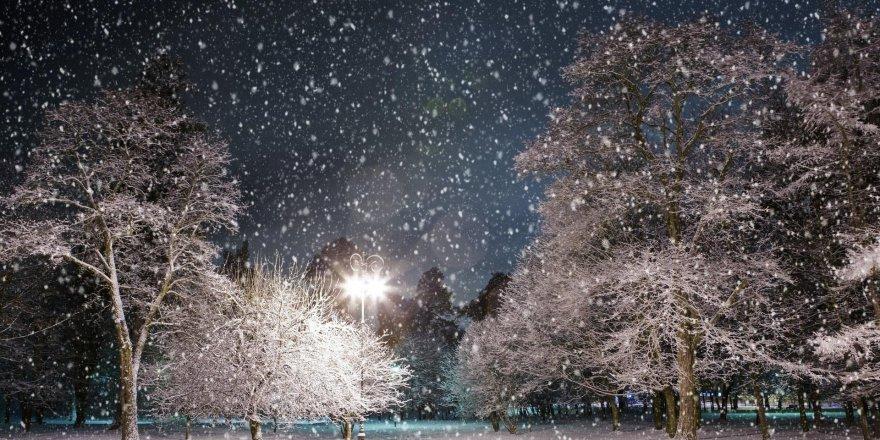 Kars'ta Kar Yağışı ve Yoğun Sis