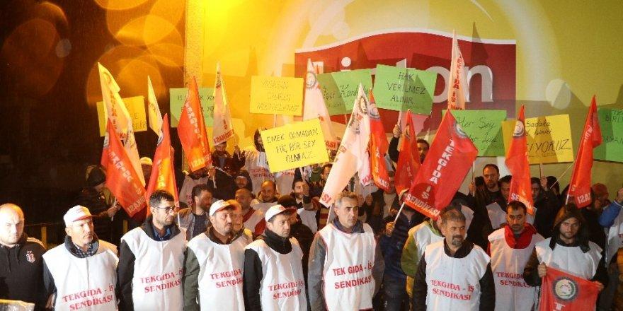 Arhavi'de 'Lipton' Çalışanlarından Eylem