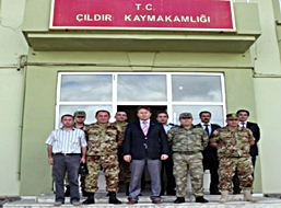 Gürcistan Askeri Heyeti ÇILDIR'da