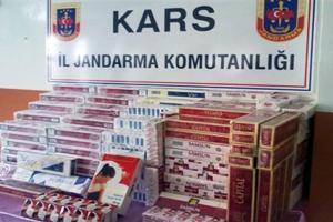 Kars'ta Kaçak Sigara OPERASY0NU