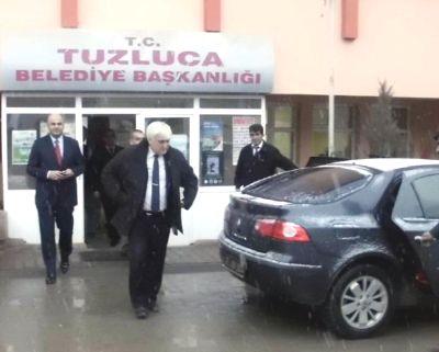 Tuzluca Belediyesine Polis BASKINI