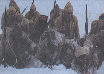 Sarıkamışta Kardan ŞEHİT HEYKELİ