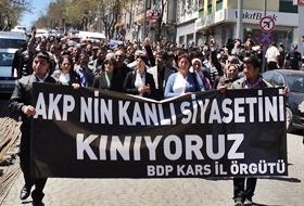 Karsta Operasyonlar Protesto EDİLDİ