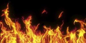 Digor'da Ot Yangını