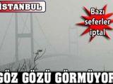 İstanbul'da SİS Hayatı Olumsuz ETKİLEDİ