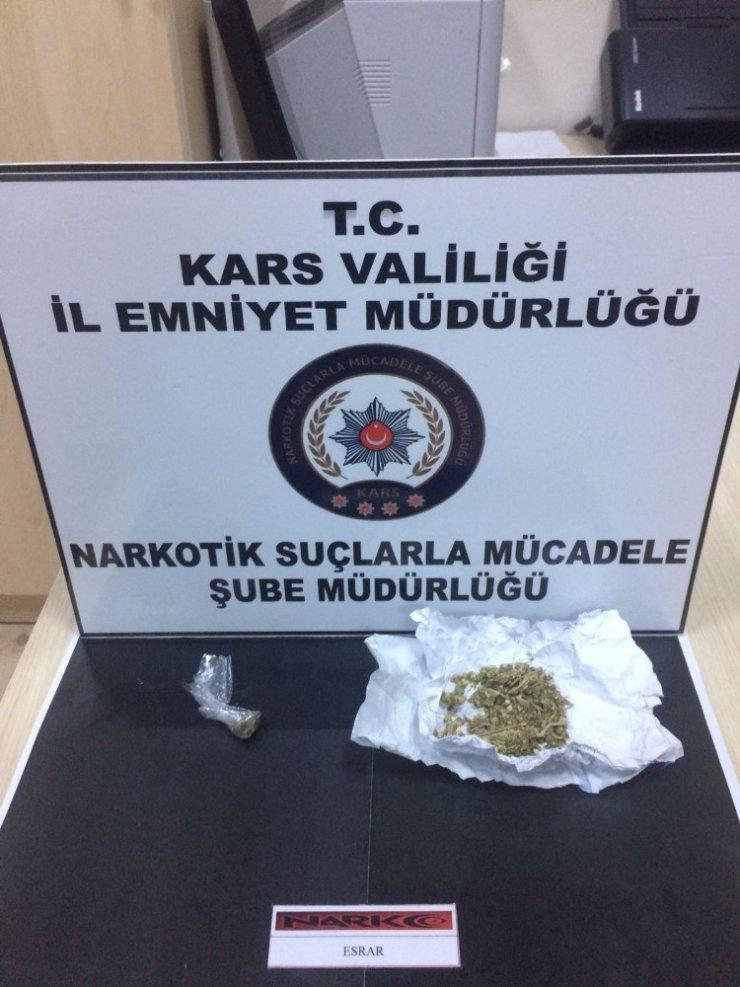 Kars'ta Uyuşturucu Ele Geçirildi