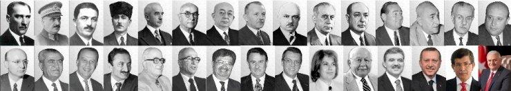 Türkiye Cumhuriyet'nin 30 Başbakanı