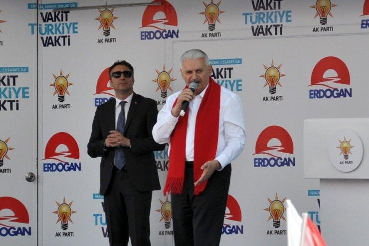 Başbakan Yıldırım Kars'ta Miting Yaptı