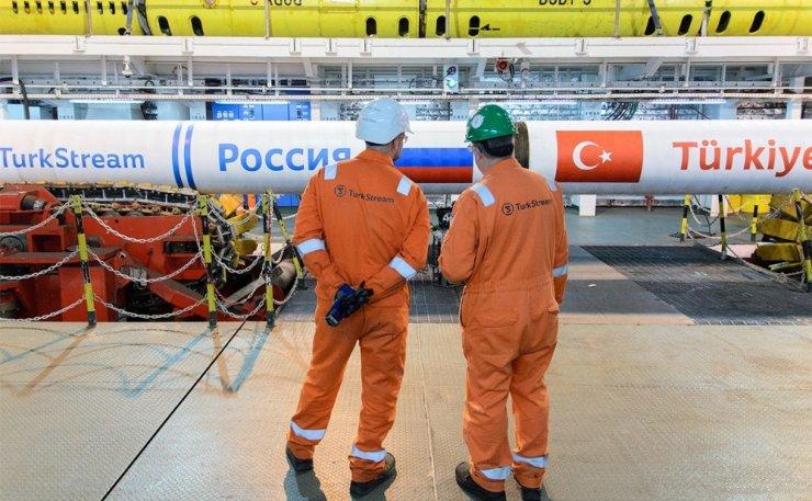 'Türk Akımı'nın Yüzde 62'si Tamamlandı