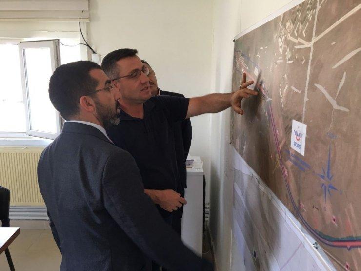 AK Parti Heyeti, 'Lojistik Merkez Şantiyesi'nde
