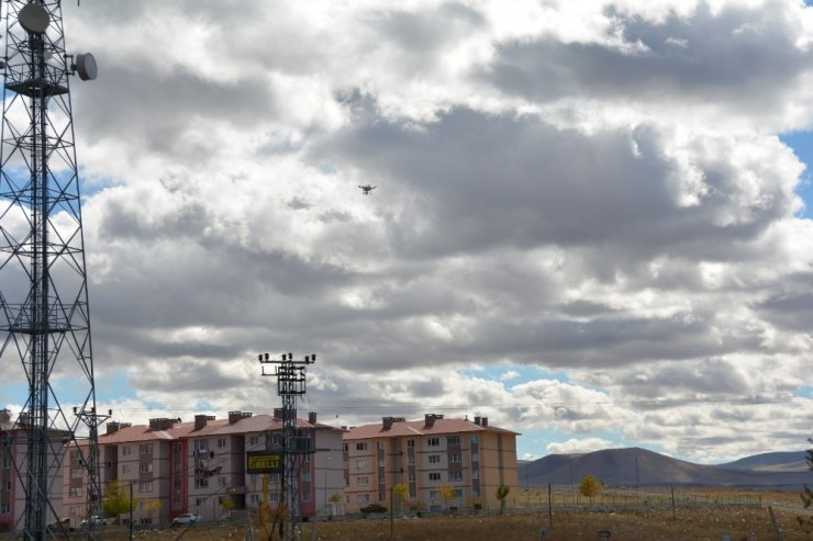 Kars'ta 'Droneli' Trafik Uygulaması
