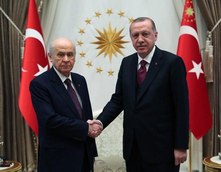 Cumhurbaşkanı Erdoğan, Bahçeli İle Görüştü