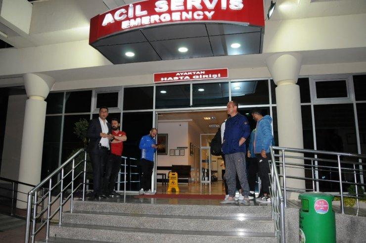 Alanyasporlu Futbolcular Kaza Yaptı