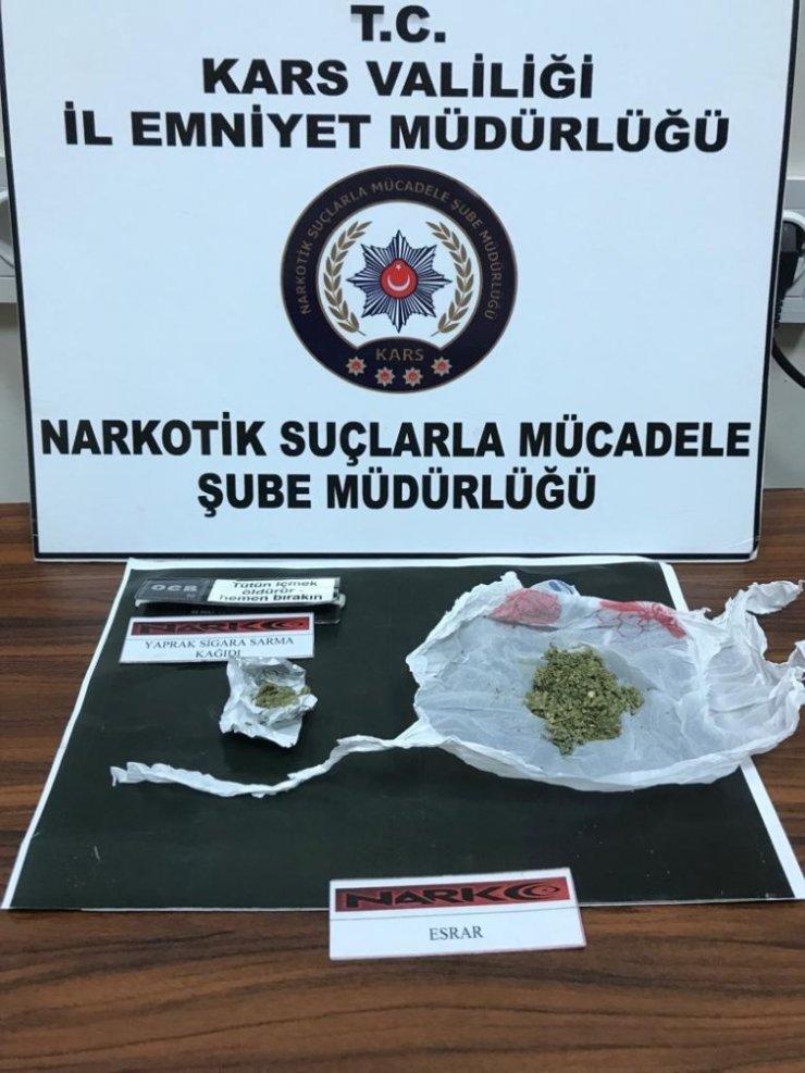 Kars'ta Uyuşturucu ve Sigara Operasyonu