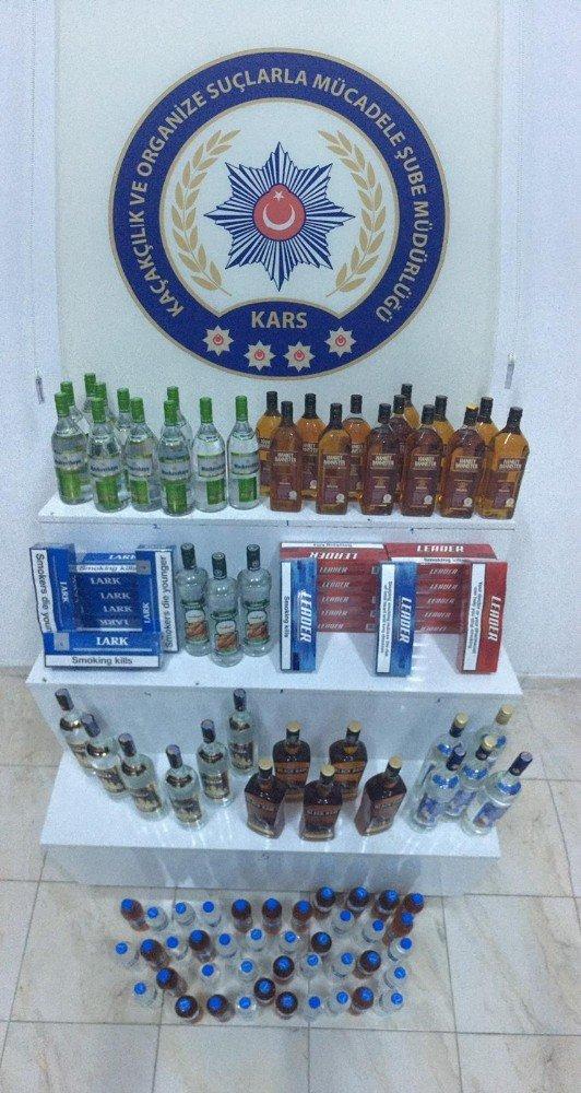 Kars'ta Kaçak İçki Operasyonu