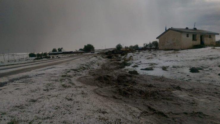 Ardahan'da Dolu Yağışı Hayatı Felce Uğrattı