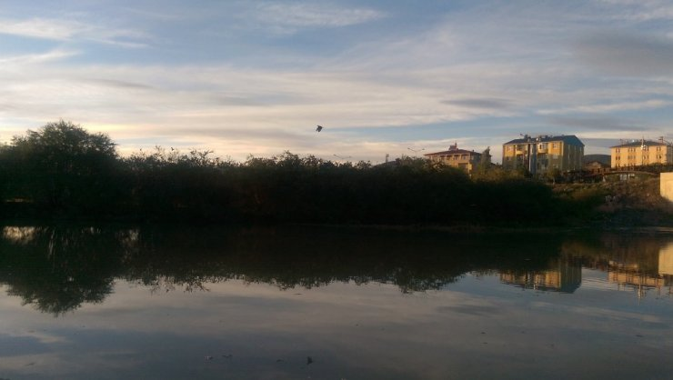Ardahan'da Gökyüzü Turuncuya Büründü