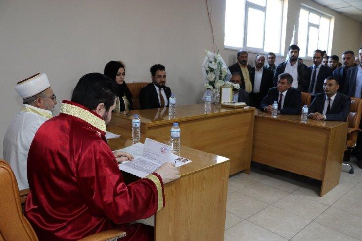 Feyzioğlu, Ağrı'da Nikah Şahitliği Yaptı