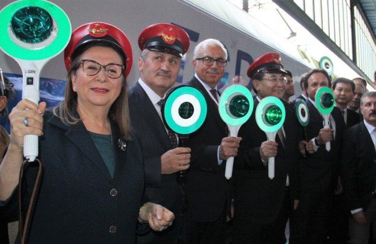 Çin'den Gelen Yük Treni Ankara'da