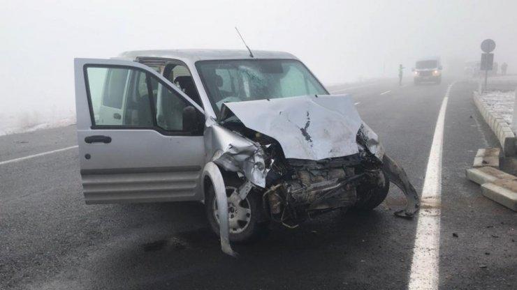 Sarıkamış'ta Zincirleme Trafik Kazası